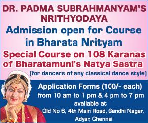 Nrithyodaya Bharata Nrityam course admission